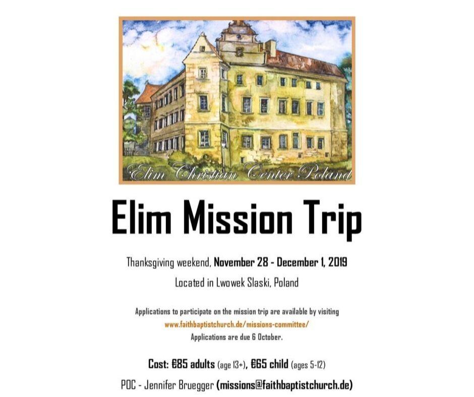 Elim Mission Trip