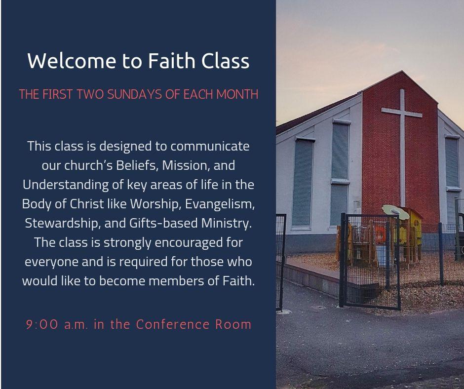 _Welcome to Faith Class