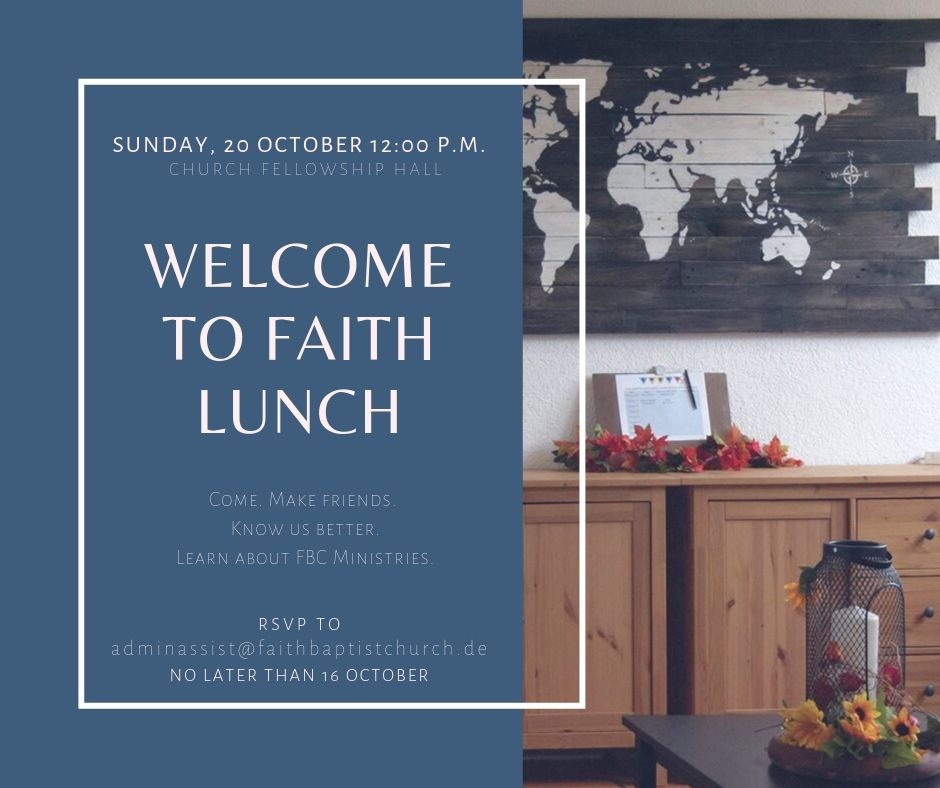 Welcome to Faith Lunch