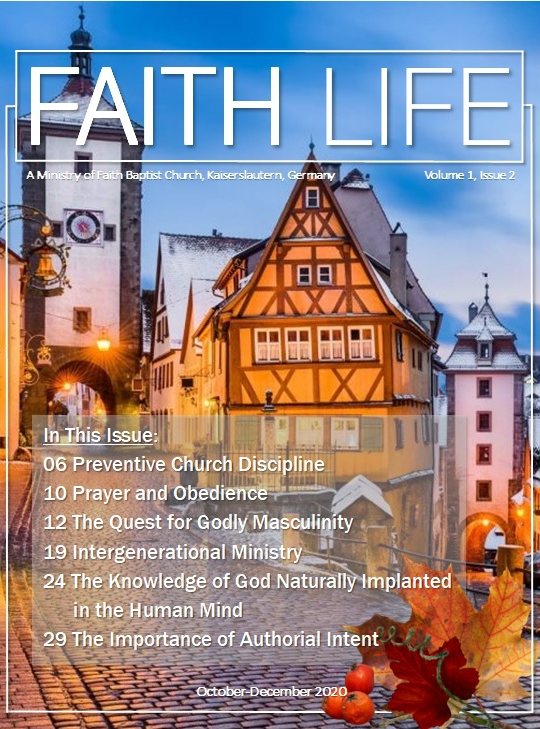 FAITH LIFE cOVER - Vol 1_Issue 2